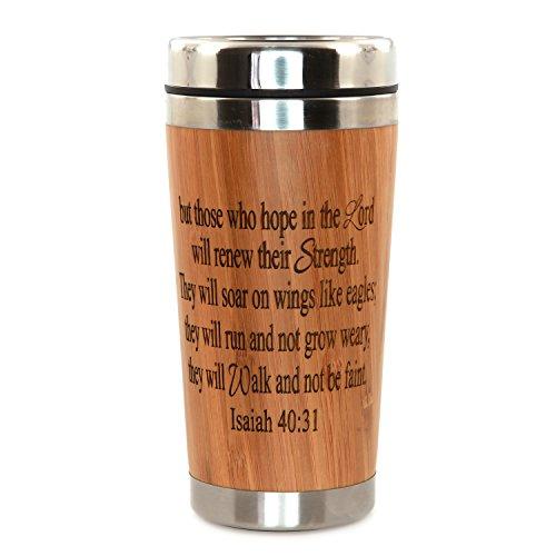 Custom Monogrammed Personalized Initial Bamboo Travel Mug Coffee Mug