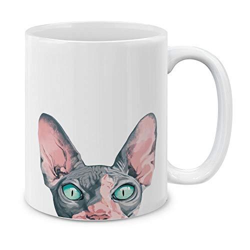 MUGBREW Sphynx Kitten Cat Ceramic Coffee Gift Mug Tea Cup 11 OZ