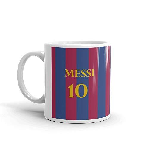 Manglam Mart Coffee Mug-Messi 10 Fcb Logo Printed Ceramic Coffee Mug  Ceramic 325 Ml Coffee Mug