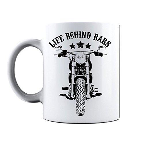Printed Mug and Coffee Cups Life Behind Bars Motorcycling Funny Mugs Novelty Gift Idea