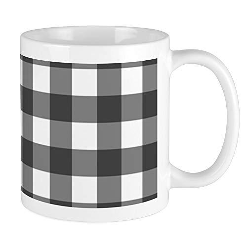 CafePress Black White Buffalo Plaid Mugs Unique Coffee Mug Coffee Cup