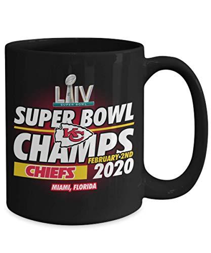 Kansas City Chiefs Super Bowl 54 LIV Champions Black Coffee Mug 15oz