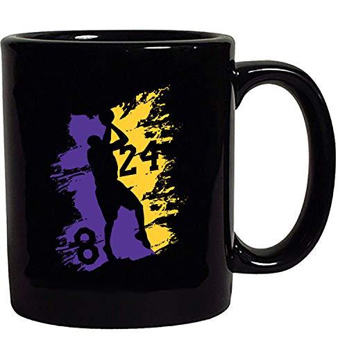 Kobe Los Angeles Basketball Fan Wear Sports Black Coffee Mug Black 15 oz