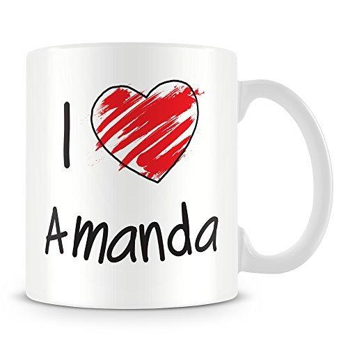 Christmas Gift Idea for Men and Women I Love Amanda Personalised Coffee Mug Gifts for Papa Husband Birthday Gifts Dad Christmas Gifts Sarcasm Mug Cup 11oz