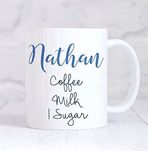 LIZNICE - Personalised Mug Personalised Coffee Mug Personalised Tea Mug Coffee Tea Instructions mug For Him Christmas Gift Birthday Gift Coffee MUG 15oz