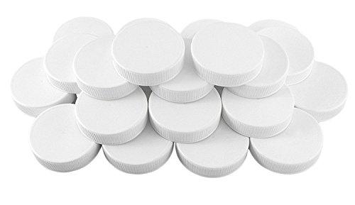 White Plastic Standard Mason Jar Plastic Lids-24 Lids Regular Mouth Storage Caps 24-Pack