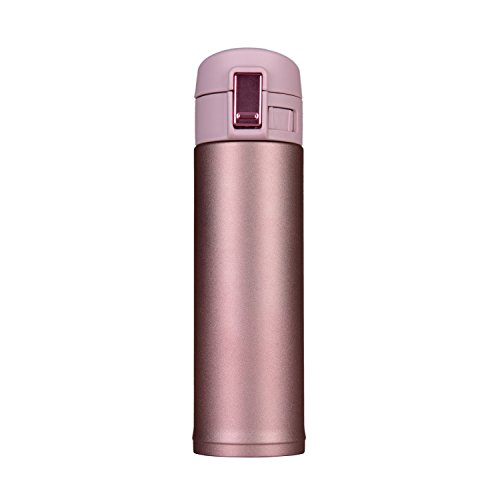 100 Leak Proof Travel Mug Vacuum Insulated Thermos MugOne-handed Open and Drink500ml17oz pink