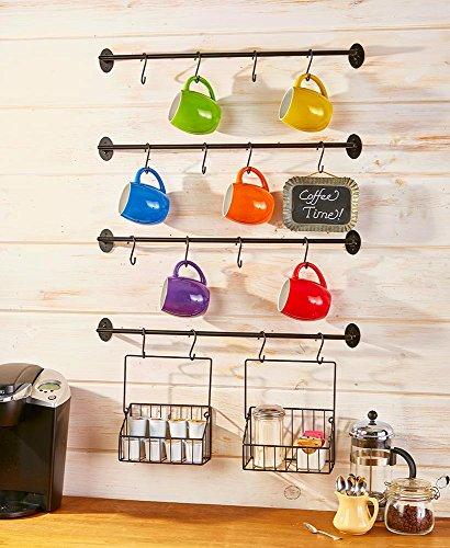 The Lakeside Collection 6-Pc Coffee Mug Wall Rack
