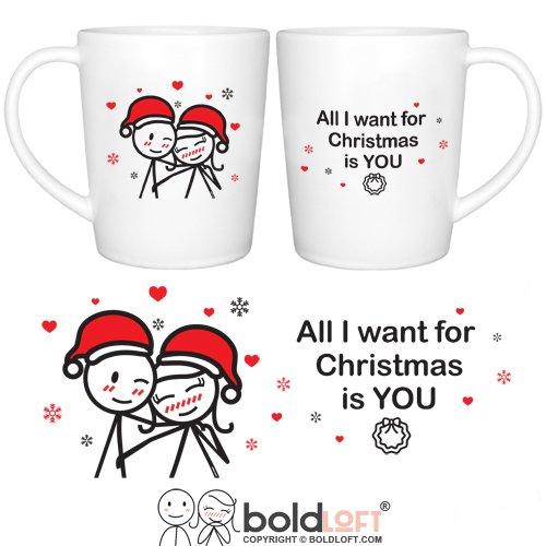 BOLDLOFT Merry Christmas Couple Mugs Set of 2Christmas Mugs for CouplesChristmas Gifts for HimHerHusbandWifeGirlfriendBoyfriendGirlfriend Gifts for ChristmasCouple Gifts for Christmas