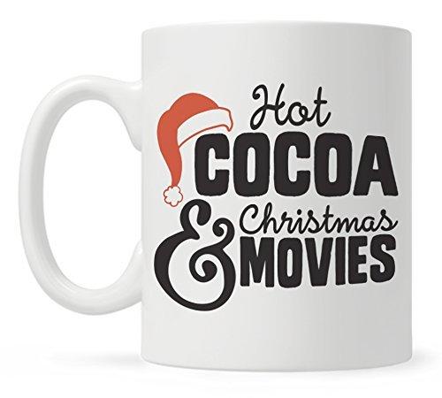 Christmas Coffee Mugs Fun Mugs Funny Christmas Mug Hot Cocoa and Christmas Movies