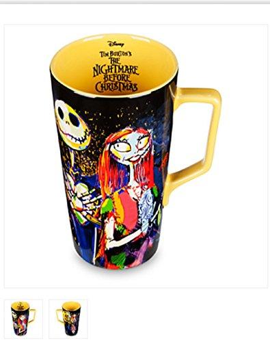 Disney Tim Burtons Jack Skellington and Sally Nightmare Before Christmas Latte Mug