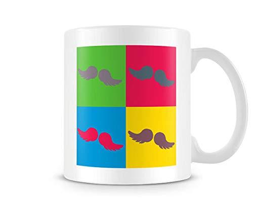 Pop Art Effect Moustache Mug