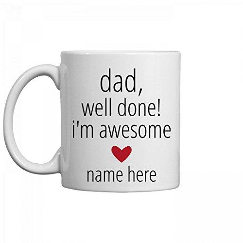 Funny Custom Dad Mug From Kid 11oz Ceramic Coffee Mug