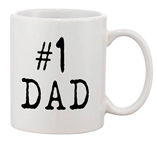 P&B 1 Dad Mug Gift For Dad And Grandpa Ceramic Tea Coffee Cup Mugs 11 oz