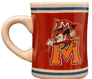 Disney Mickey Mouse Mascot Letterman Pennant Coffee Cup Mug