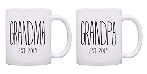 New Grandparents Gifts Grandma Grandpa Est Your Year 2 Pack Customized Mugs Cups Grandma Grandpa