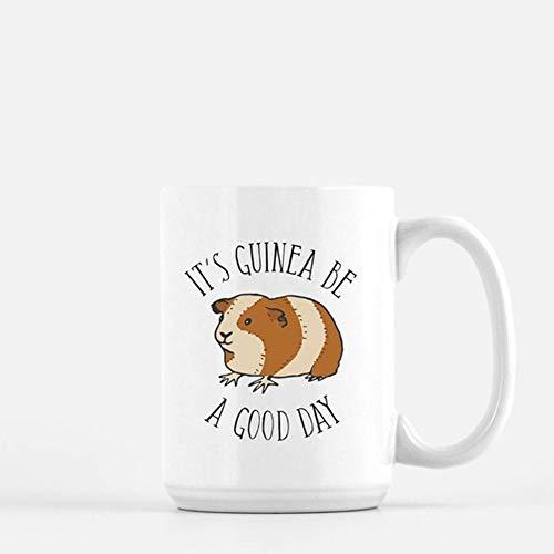 OttoRiven101 - Guinea Pig Mug Punny Coffee Mug Funny Coffee Mug Coworker Gift Funny Gift Guinea Pig Gift 11oz Ceramic Coffee Cup High Gloss