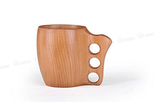 VARANDA Handmade Wooden Portable Beer CupTravel CupCoffee Mug Drinking CupCamping Mug