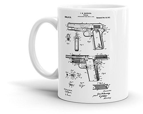 Colt Firearm 1911 Patent - Gun Coffee Mug - 11 oz