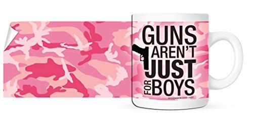 Guns Arent Just For Boys - Pink Camo Gun Coffee Mug - 11 oz