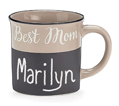 BEST MOM PORCELAIN CHALKBOARD MUG WBOX