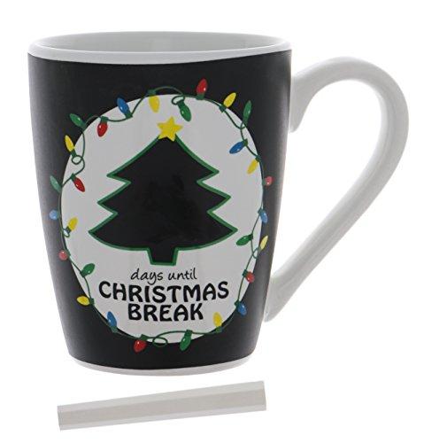 Countdown to Christmas Break Erasable Chalkboard Mug