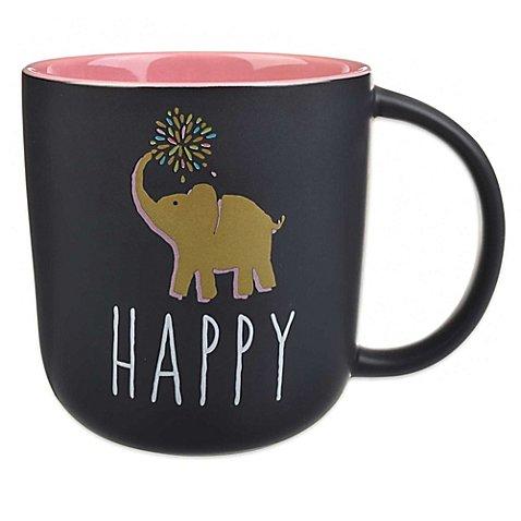 Formations Happy Elephant Statement Chalkboard Mug