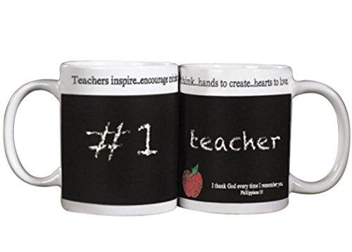 Teachers Inspire and Encourage Chalkboard Mug with Chalk 10 oz