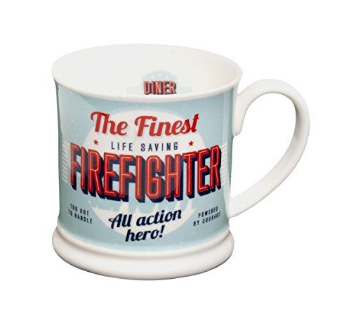Diner Mugs 195000052 Firefighter Mug Turquoise