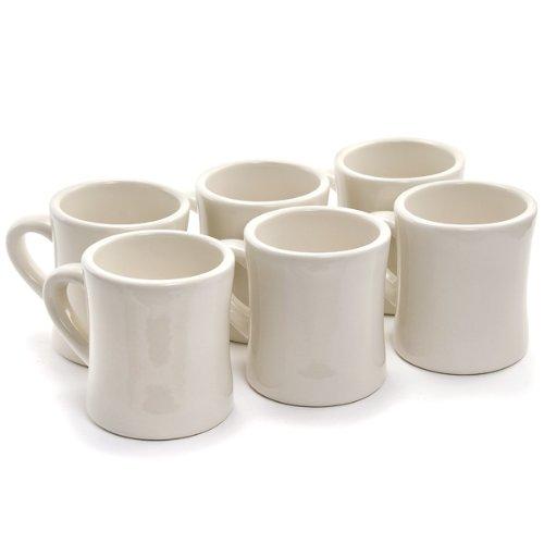 Marck Diner Coffee white Mugs - Set Of 6