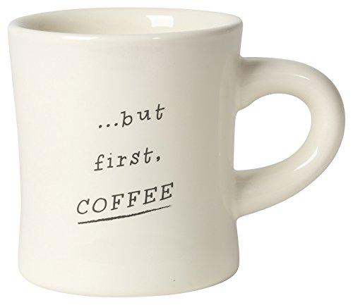 Now Designs Coffee Diner Mug Set of 6 Off White