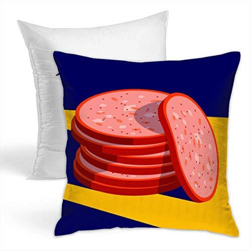 LFCLOSET Decorative Throw Pillow Soft Home Decor Pillow - Meat Slice