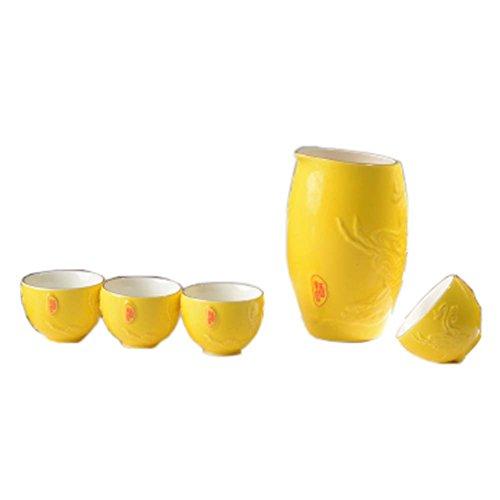 Japanese Ceramic Sake Bottle Cups Sets Sake Flask for Sushi Bar 04