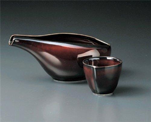 URUSHI-BROWN Jiki Japanese Porcelain SAKE Set