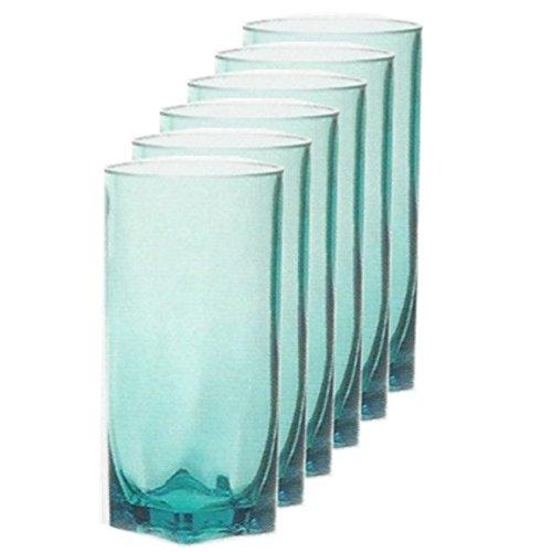 Acrylic Tumblers Set of 6 Turquoise