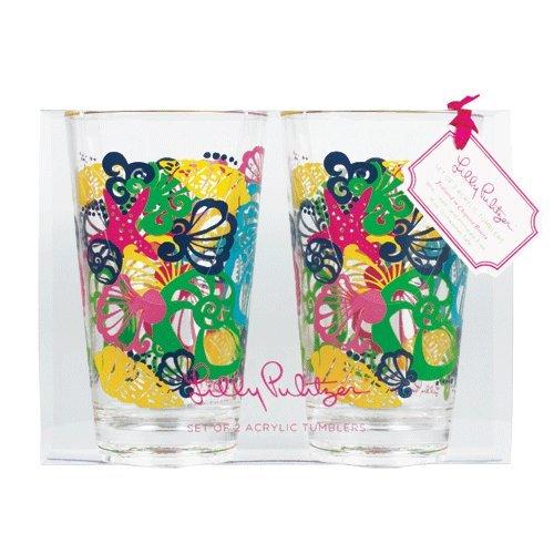 Lilly Pulitzer Acrylic Tumblers - Set of 2 - Chiquita Bonita