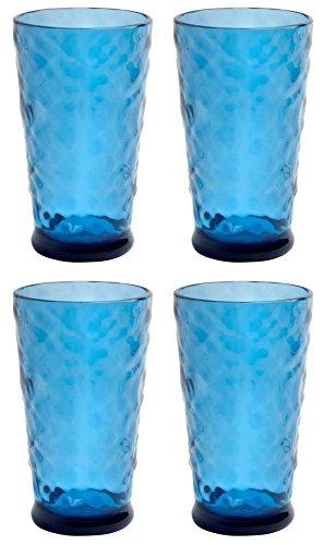 Nantucket Home Blue Seaglass Acrylic Tumblers Set of 4