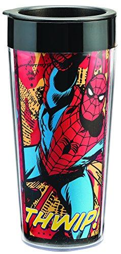 Marvel Spider-Man 16 Oz Plastic Travel Mug