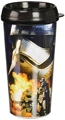 Silver Buffalo SE0587 Disney Star Wars Episode 7 Captain Phasma Plastic Travel Mug 16-Ounces