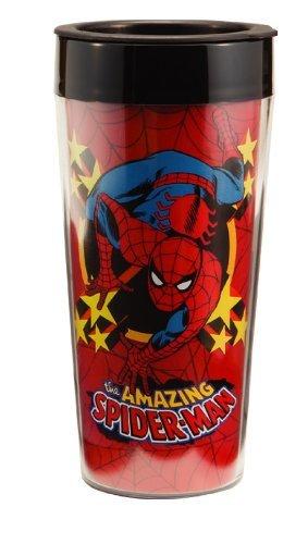 Vandor 26051 Marvel Spider-man 16 oz Plastic Travel Mug Multicolor
