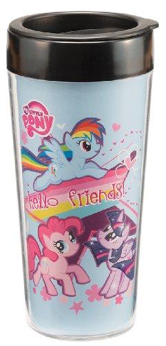 Vandor 42051 My Little Pony 16 oz Plastic Travel Mug Mutlicolor