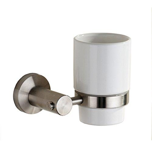 MARMOLUX ACC Lawrel Series 11938-BN Bathroom Toothbrush Cup Holder Tumbler Stainless Steel Brushed