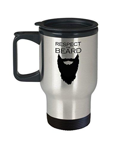 Respect the Beard Coffee Travel Mug Insulated Stainless Steel Tumbler Cool Funny Mug for Men
