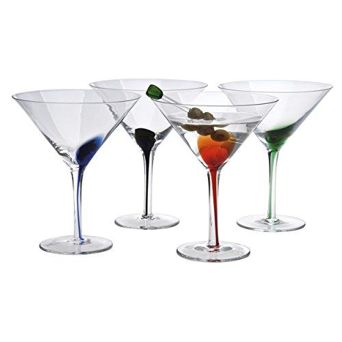 Artland Splash 12 oz martini Glasses Set of 4 Multicolor
