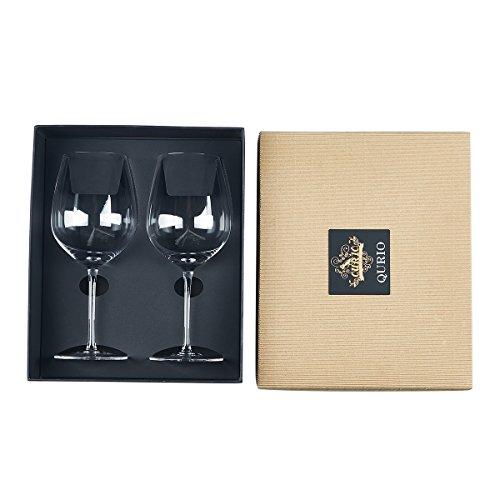 Wine Glasses 2PACK Hand Blown Premium Crystal Glassware Red Wine Glasses