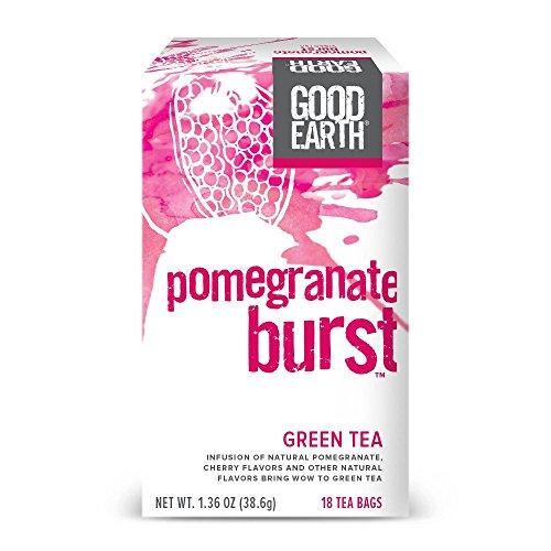 Good Earth Green Tea Pomegranate Burst 18 Count Tea Bags Pack of 6