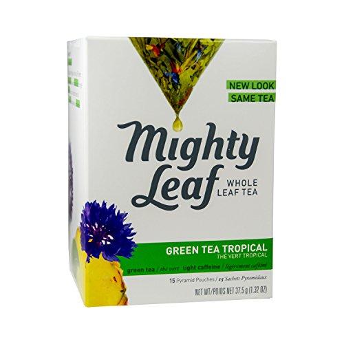 Mighty Leaf Green Tea Tropical 132oz 15 Pouches