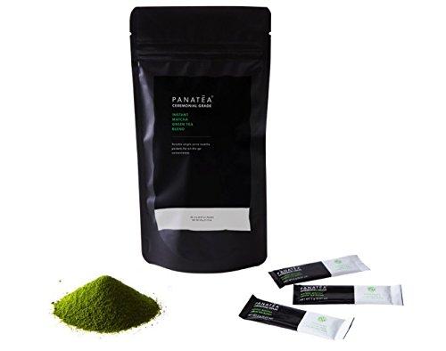 PANATEA Instant Matcha Packets Ceremonial Grade Green Tea Powder Single Serving Matcha On The Go Travel Packs 30 Count