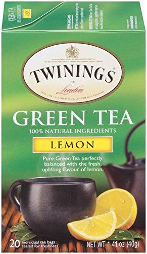 Twinings of London Lemon Green Tea 20 Count Pack of 6
