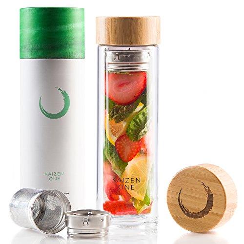VIVA Bottle - Double Wall Glass Tea Fruit Infusion Bottle